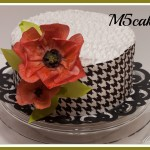 Poppies - wafer paper flowers cake